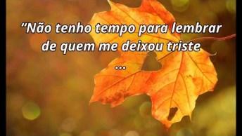 Frase De Amor Para Facebook, Não Perca Tempo Com Quem Te Deixou Triste!