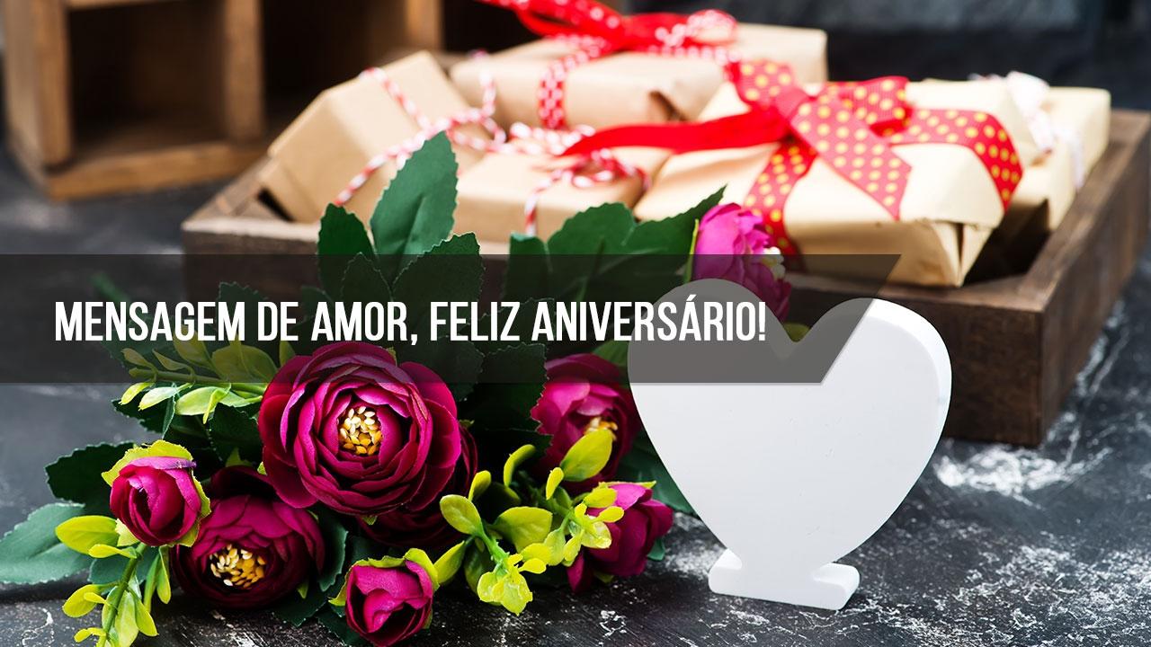 Mensagem de amor aniversario