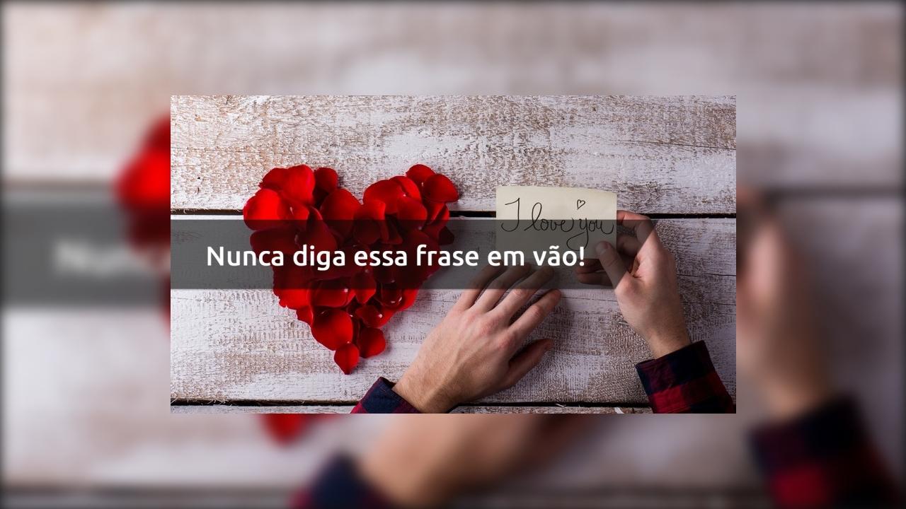 Mensagem de amor com eu te amo