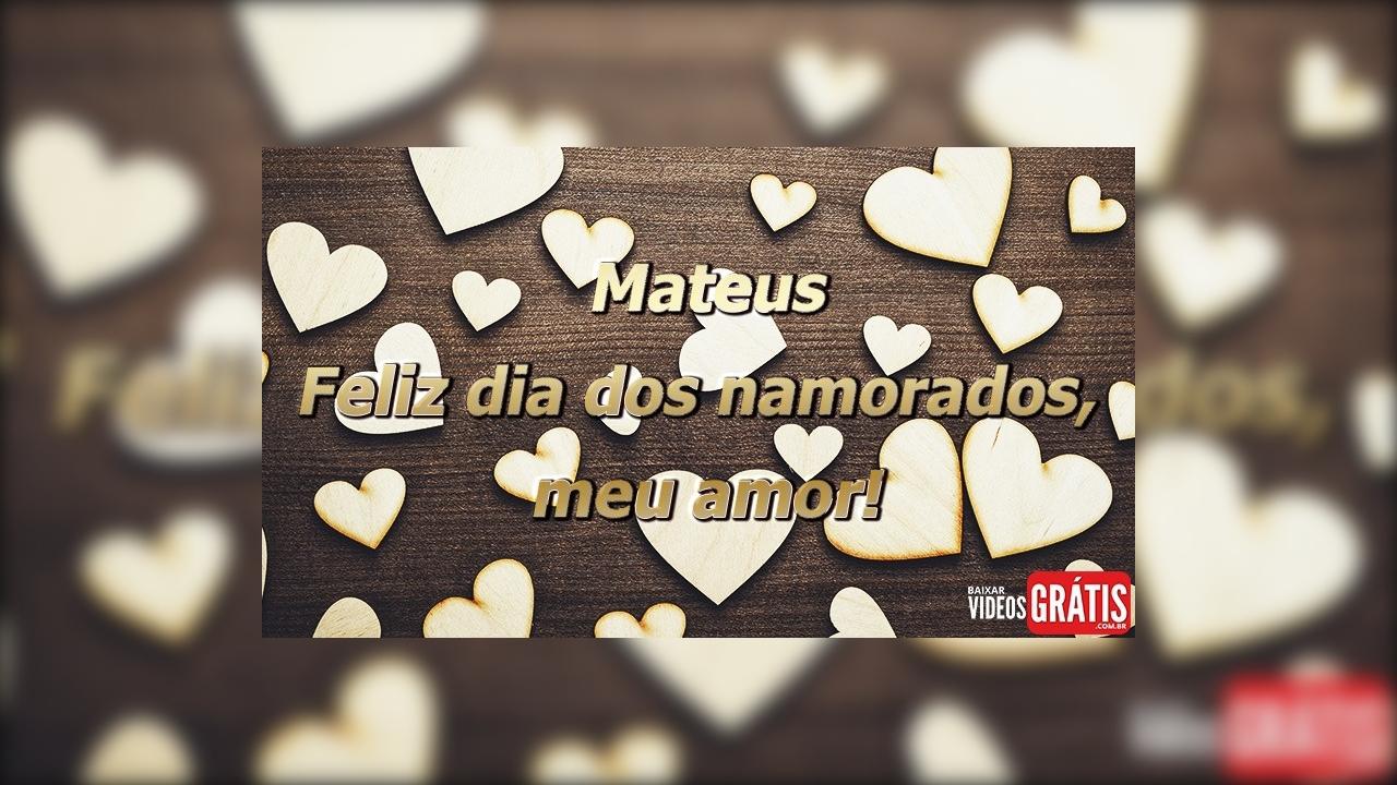 Mensagem de amor para Mateus