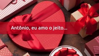 Mensagem Para Dia Dos Namorados Personalizada Com Nome - Antônio!
