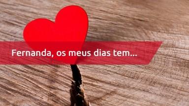Mensagem Para Fernanda De Amor, Te Amo Minha Vida! Feliz Dia Dos Namorados!