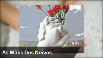 Moldando As Mãos Dos Noivos, Uma Ótima Ideia Para Casais Apaixonados!