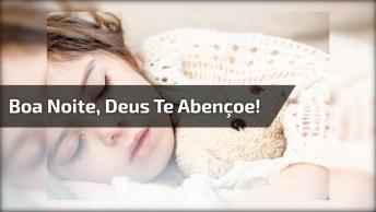 Boa Noite Com Bebê Lindo E Com Mensagem De Deus, Compartilhe No Facebook!