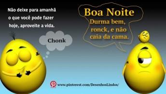 Boa Noite Com Bonequinhos Amarelos Divertidos, Para Facebook!