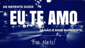 Boa Noite Para Amor, Envie Pelo Whatsapp E Surpreenda A Pessoa Amada. . .