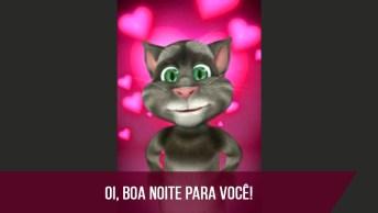 Mensagem De Boa Noite Engraçada Do Gatinho Tom Para Enviar Para Amiga!