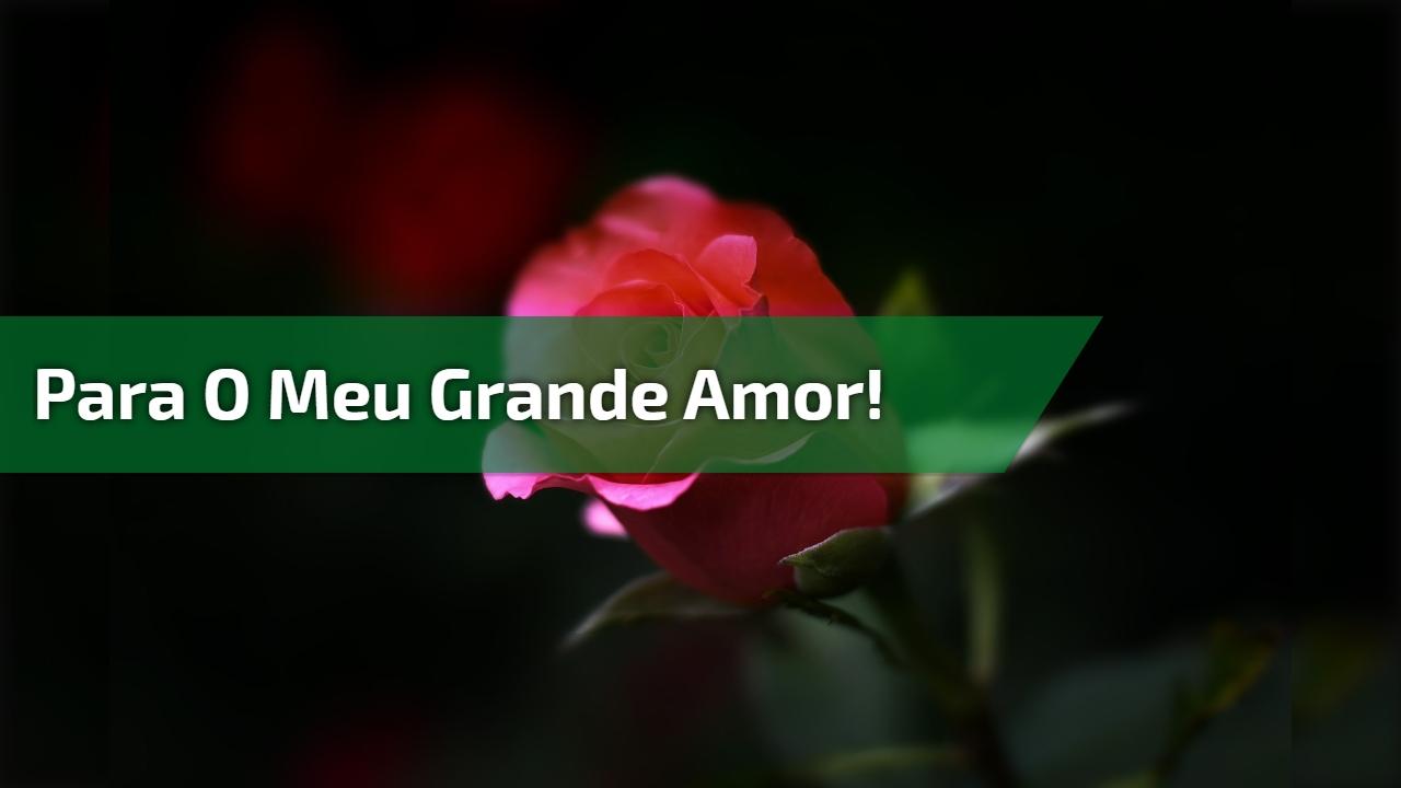Para o meu grande amor!