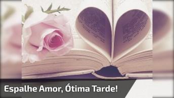 A Magia Da Vida Consiste Em Espalhar Amor, Ótima Tarde!