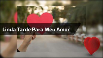 Amor Meu, Tenha Uma Linda Tarde, Você É Muito Especial!