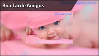 Boa Tarde Para Grupos Do Whatsapp, Com Uma Linda E Fofinha Bebê!