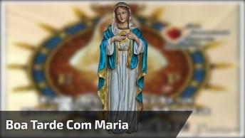 Mensagem De Boa Tarde Com Proteção De Maria, Para Facebook!