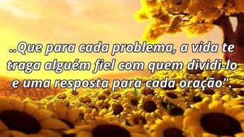 Bom Dia Com Girassol, Mensagem Com Deus Para Amigos Do Facebook!
