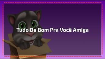 Bom Dia Divertido Para Amiga Com Gatinho, Envie Agora Mesmo Pelo Whatsapp!