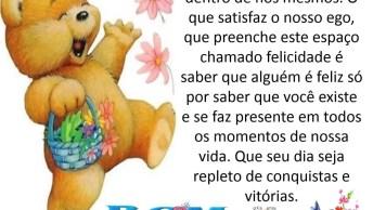 Mensagem De Bom Dia Com Ursinho, Perfeito Para Compartilhar No Facebook!