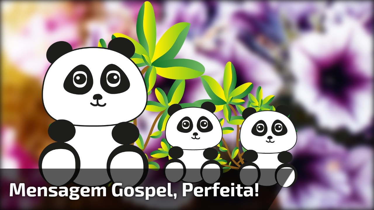 Mensagem gospel, perfeita!