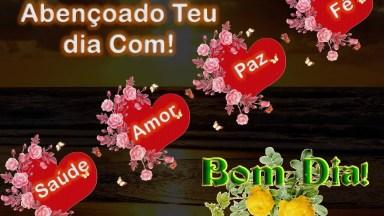 Vídeo De Bom Dia Com Saúde, Amor, Paz E Fé, Para Compartilhar No Facebook!