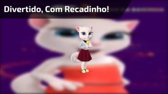 Video De Bom Dia Divertido Para Amigas Lindas, Com Recadinho Da Gatinha!