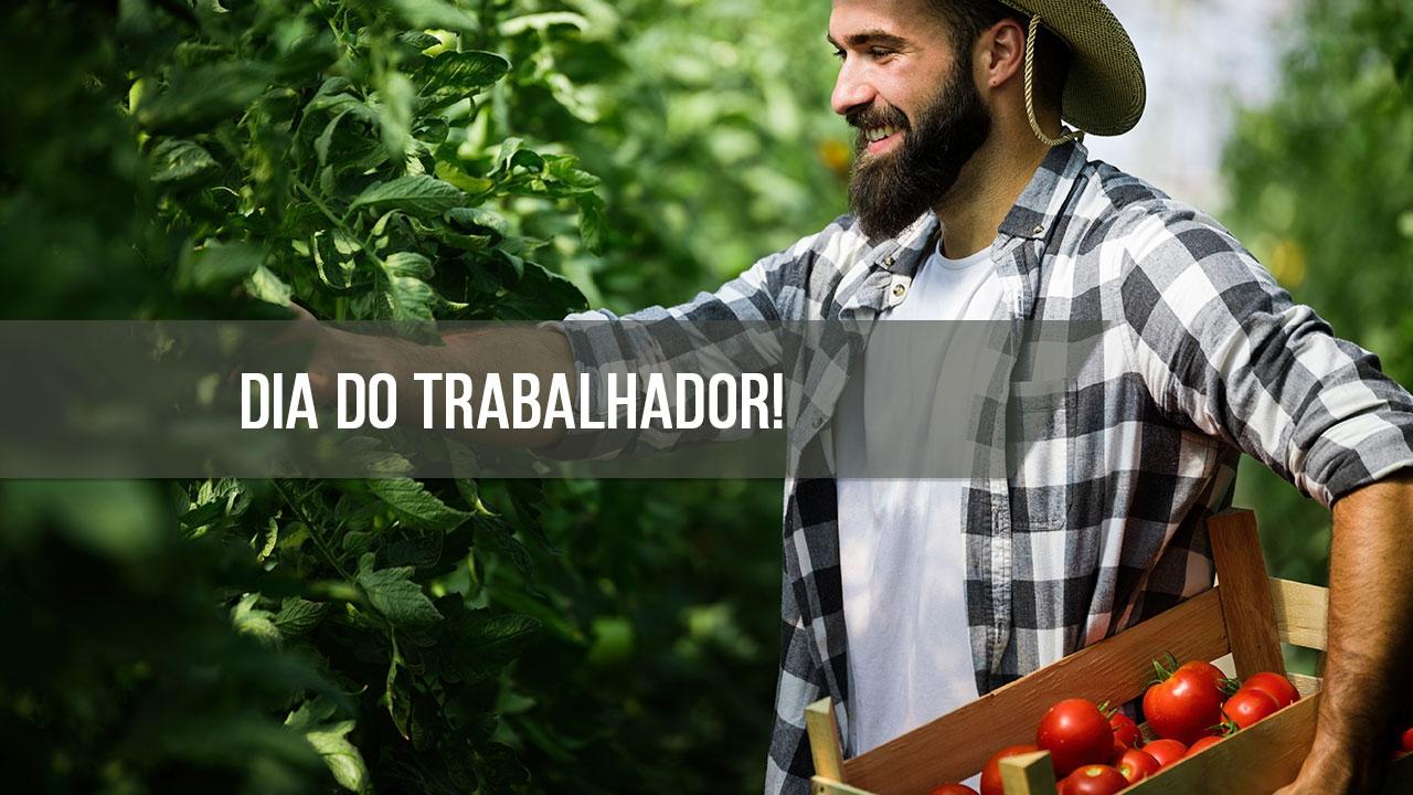 Dia 1 de maio é Dia do Trabalhador. Parabéns a todos trabalhadores!!!