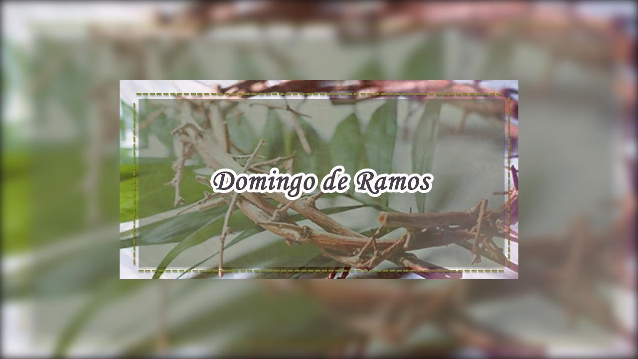 Dia 14 de Abril é Domingo de Ramos