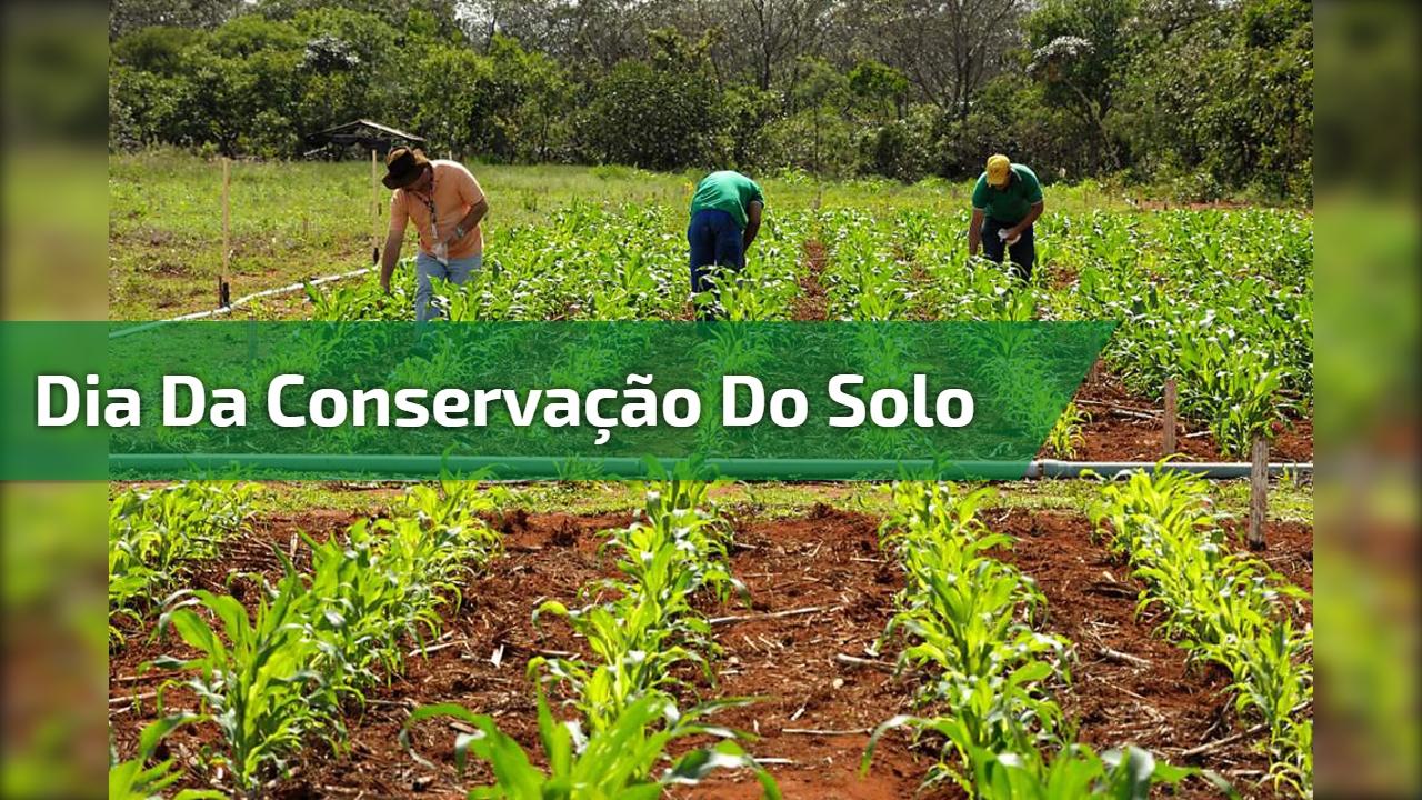 Dia 15 de Abril é Dia Nacional da Conservação do Solo - Compartilhe!