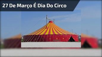 Dia 27 De Março É Dia Do Circo, Ele Que Trás Tanta Alegria A Todos!