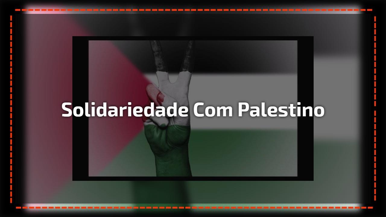 Solidariedade com Palestino