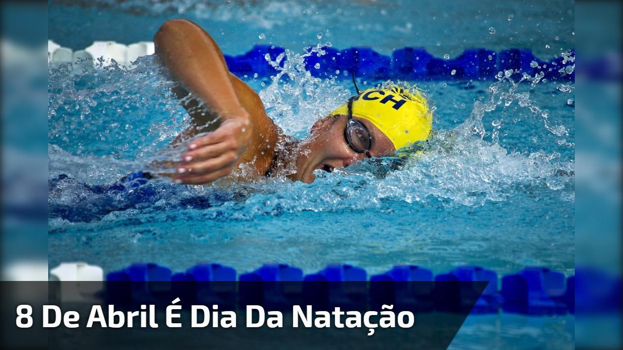 Dia 8 de abril é Dia da Natação, um dos esportes mais praticados no Brasil!!!