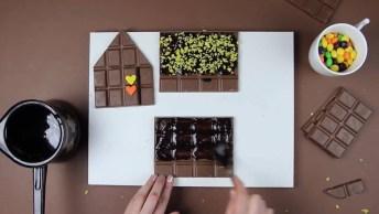Ideias De Chocolates Para Páscoa, Veja Que Linda Esta Casinha De Chocolate!