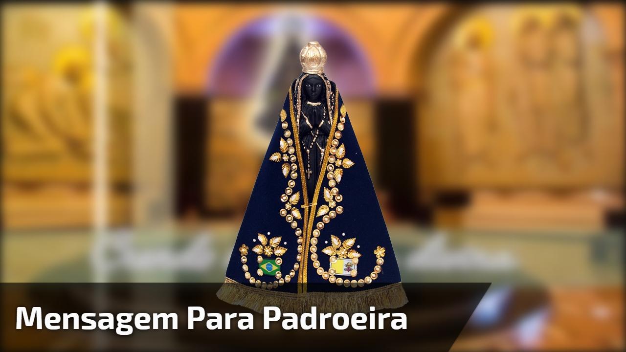 Mensagem para dia 12 de outubro dia de Nossa Senhora de Aparecida!!