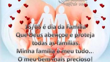 Mensagem Para O Dia Da Família! Amo Muito Minha Família, Que Deus Nos Abençoe!