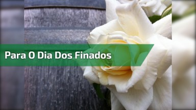 Mensagem Para O Dia Dos Mortos( Finados ), Dia 02 De Novembro!