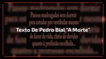 Texto De Pedro Bial 'A Morte', Com Música De Fundo 'Os Bons Morrem Jovens'!