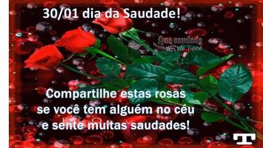 Vídeo Com Mensagem Para O Dia Da Saudade, Dia 30 De Janeiro. . .