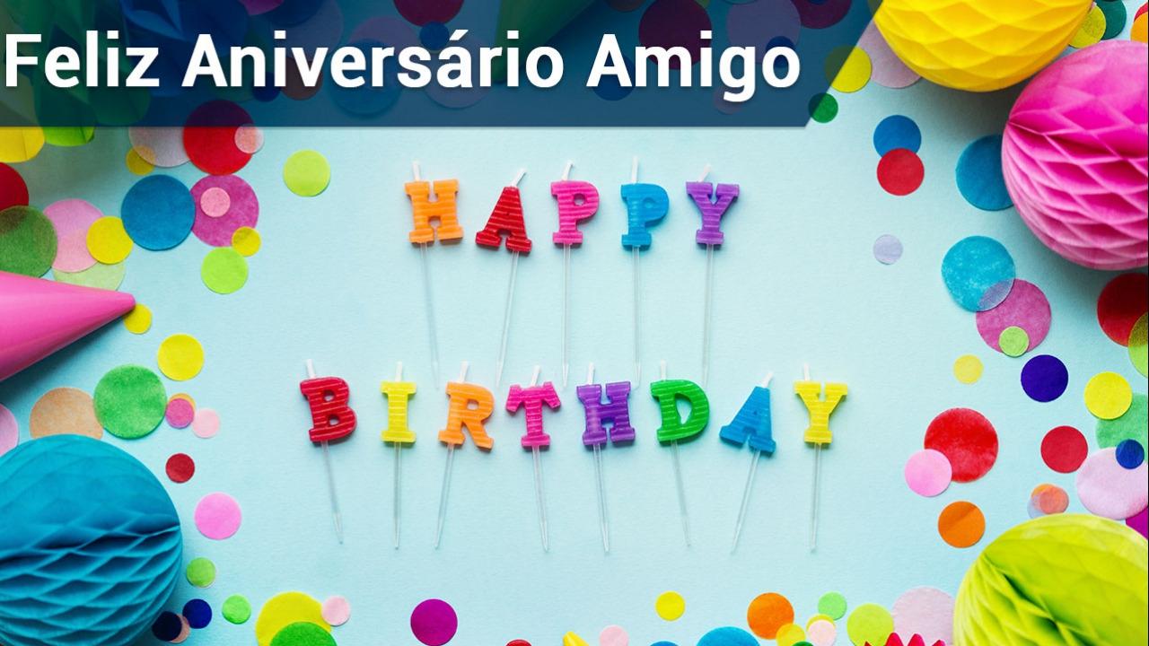 Feliz aniversário Amigo