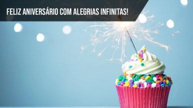 Feliz Aniversário Com Alegrias Infinitas!