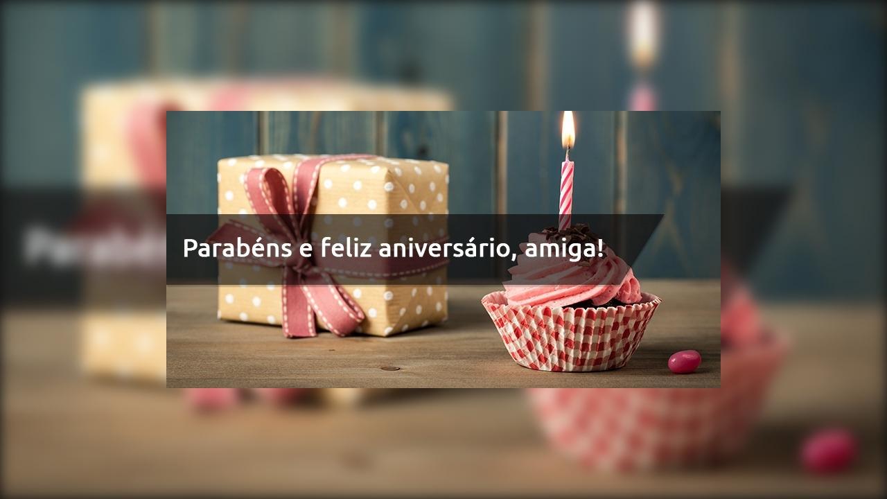 Mensagem de aniversário linda para amiga