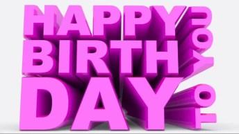 Mensagem De Feliz Aniversário Para Amiga! Happy Birthday To You!