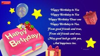 Mensagem De Feliz Aniversário Para Amigo Ou Amiga! Happy Birthday!