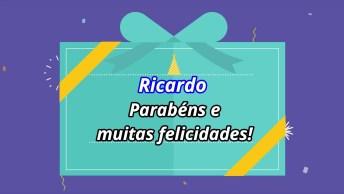Mensagem De Feliz Aniversário Para Ricardo. Envie Agora Mesmo Este Lindo Vídeo!