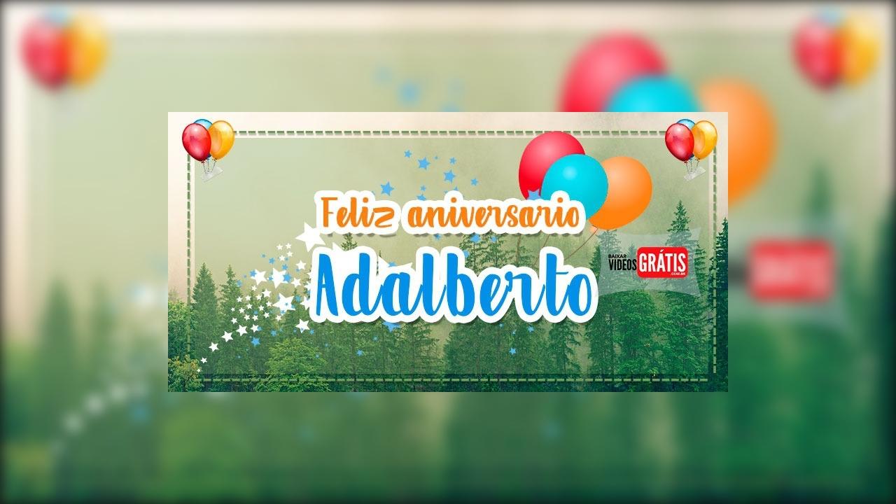 Mensagem de Parabéns para Adalberto!