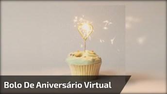 Vídeo Com Bolo De Aniversário Virtual, Compartilhe E Escreva A Sua Mensagem!