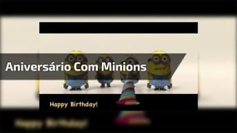 Vídeo Com Feliz Aniversário Com Minions, Para Seu Amigo Divertido!
