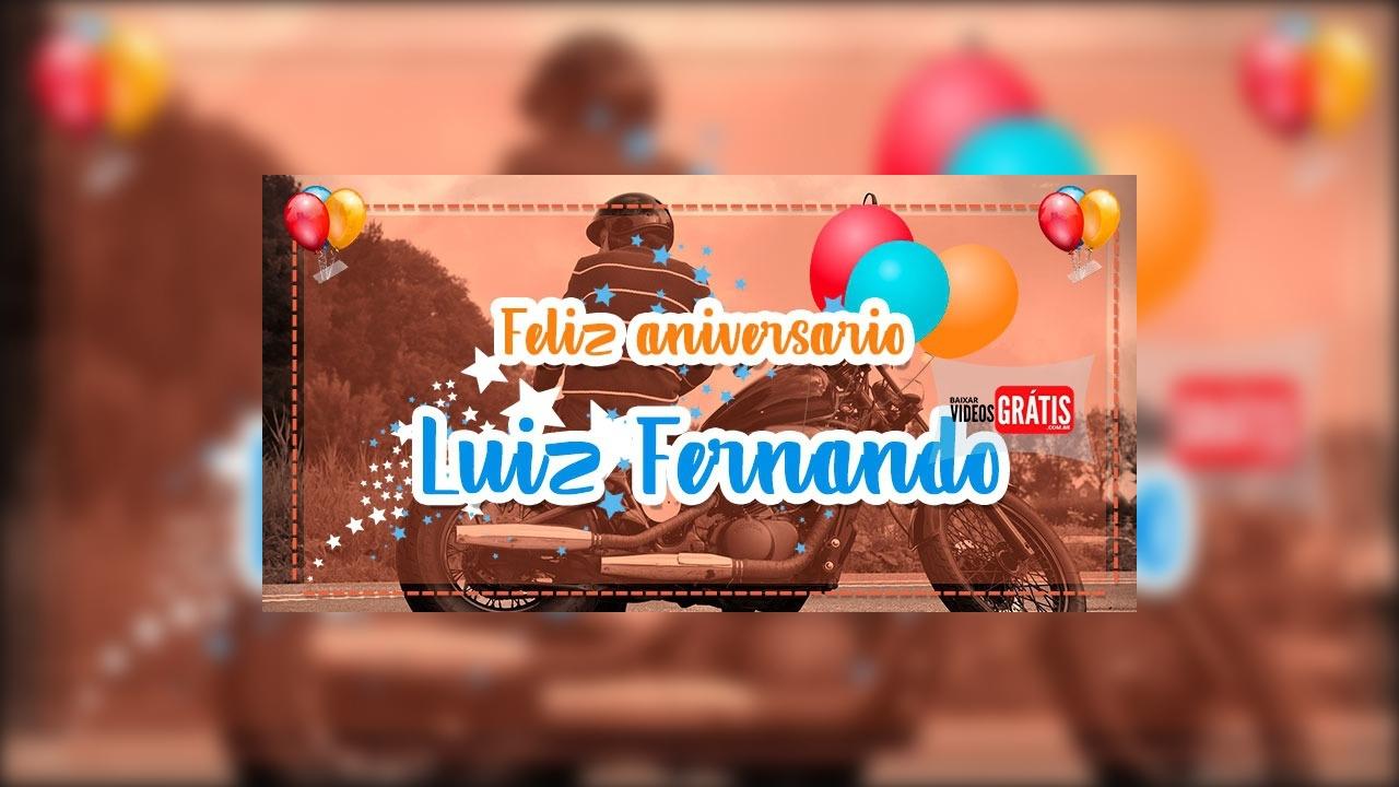 Vídeo com mensagem de Aniversário para Luiz Fernando