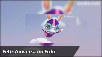 Vídeo Com Mensagem De Feliz Aniversário Com Coelhinha Fofa!