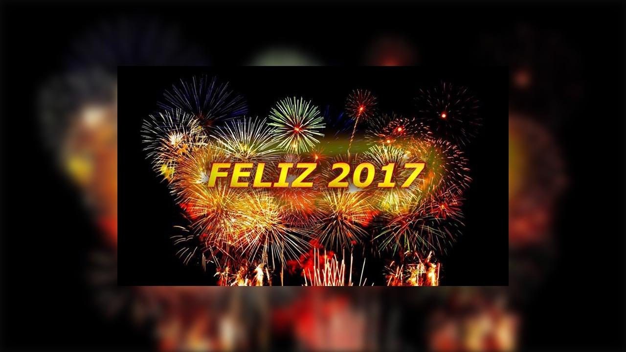 Feliz ano novo para amigos do Facebook, feliz 2017 para todos!