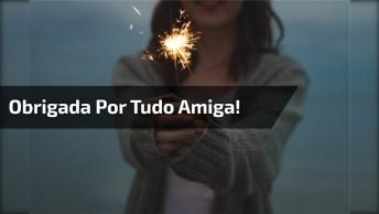 Mensagem De Ano Novo A Uma Amiga Especial - Obrigada Por Tudo Amiga!