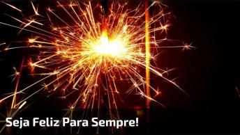 Mensagem De Boa Noite Com Feliz Ano Novo, Seja Feliz Sempre!