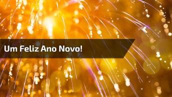 Que O Ano Novo Comece Com O Pé Direito. Um Feliz Ano Novo!