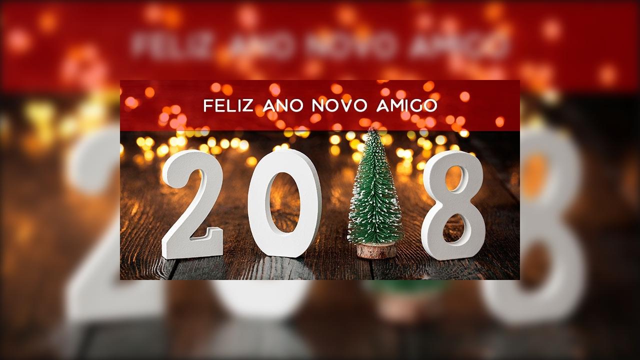 Vídeo com mensagem de Feliz Ano Novo para amigo